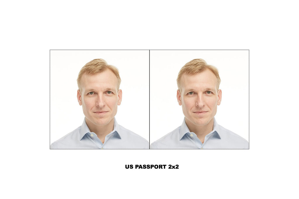 Passport with white background