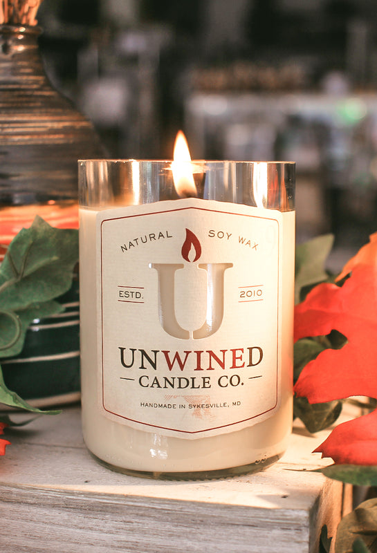 Unwined Candles - Soy Wax Candles Made From Reused Wine Bottles