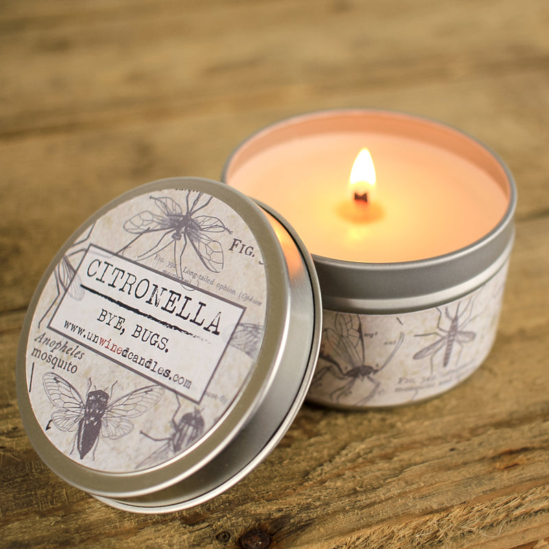 Citronella Travel Tin Candle - Unwined Candles