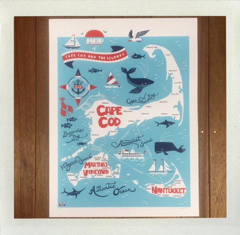 Cape & Islands Silkscreened Poster