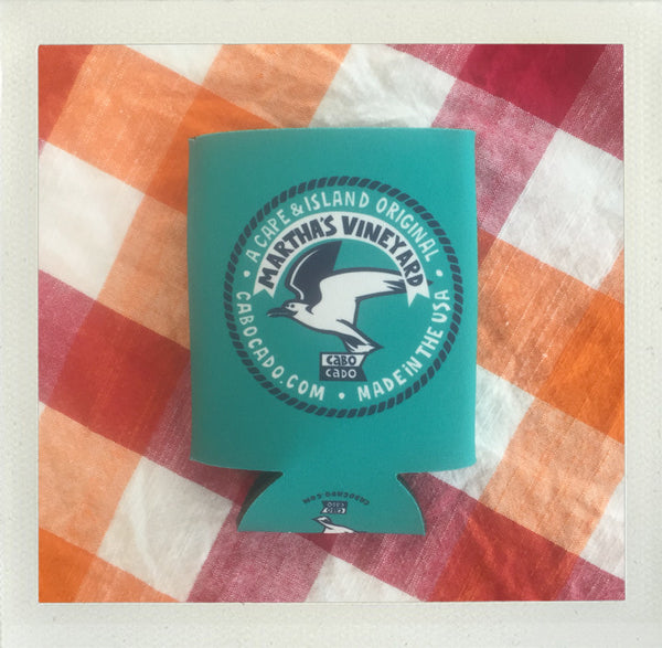 Martha's Vineyard Collapsible Koozie • Aqua