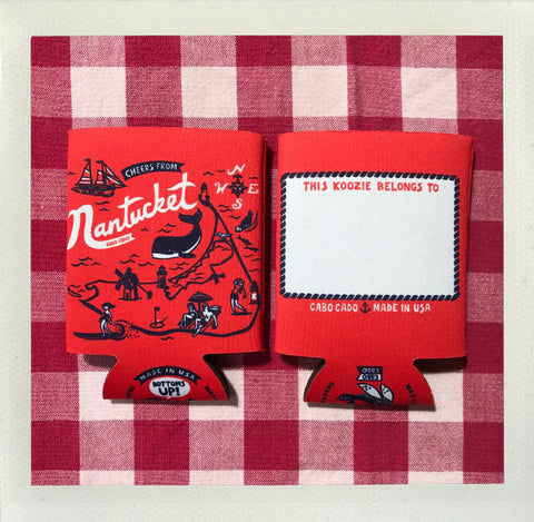 Nantucket Custom Koozie • Red