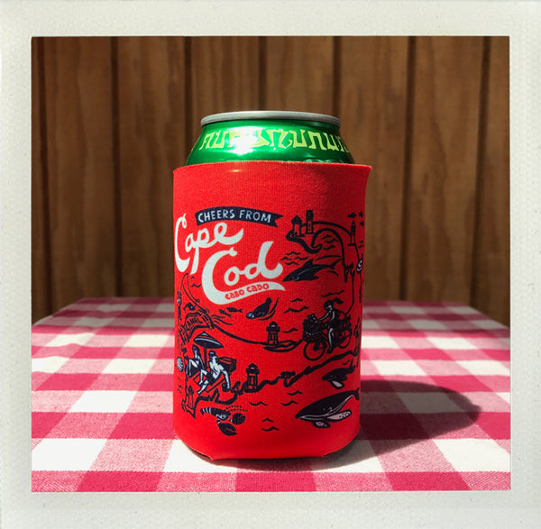 Cape Cod Custom Koozie Red