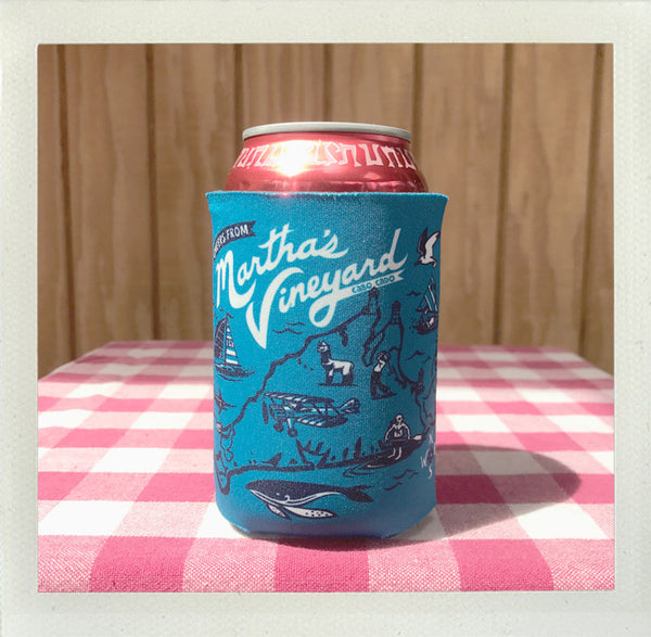 Martha's Vineyard Custom Koozie • Aqua