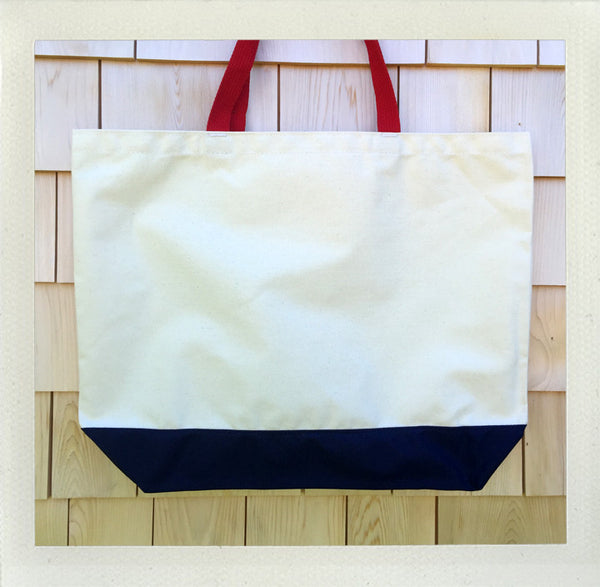 Nantucket Beach Tote • Red & Navy