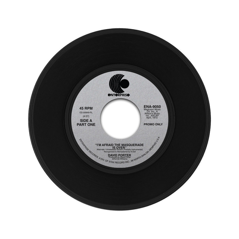 "David Porter - The Masquerade Is Over (Unreleased Partially Instrumental Version) (7"")"