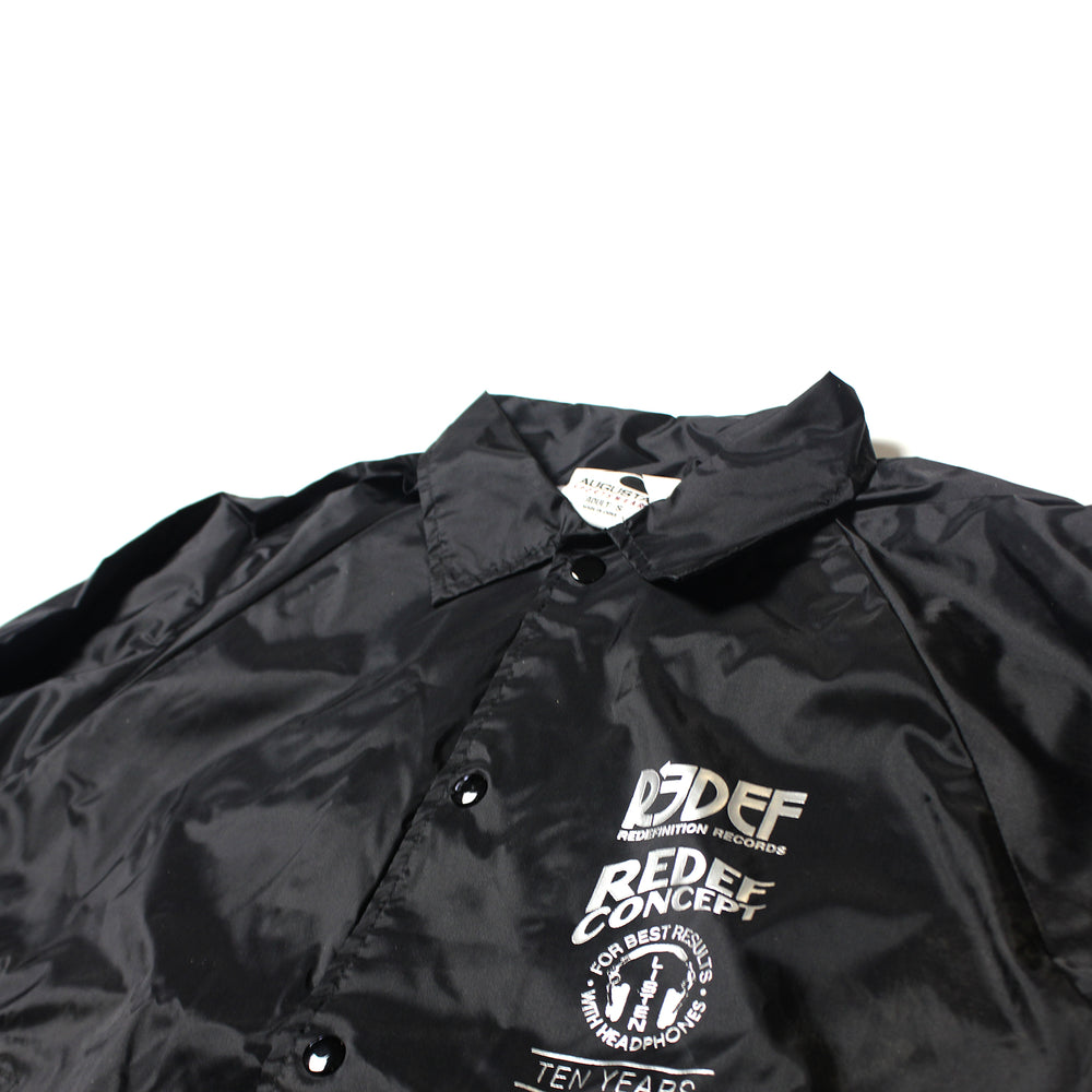 Redef Recs 10 Year Anniversary Coaches Jacket (Black)