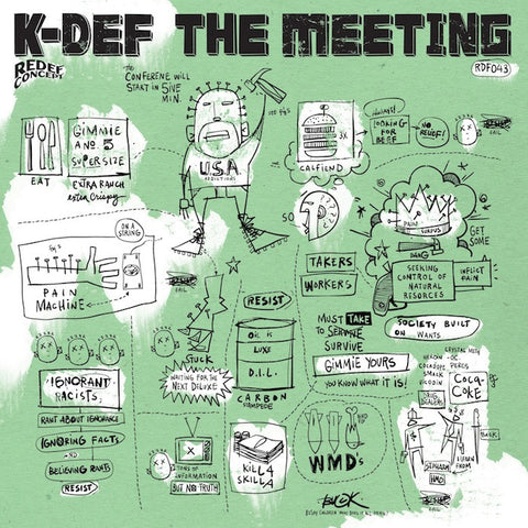 K-Def - The Meeting (Deluxe White & Black Vinyl) 12""