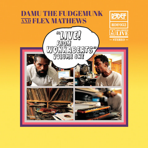 "Damu & Flex Mathews - Live From WonkaBeats Vol 1 (10"" Vinyl, Gradient Color)"