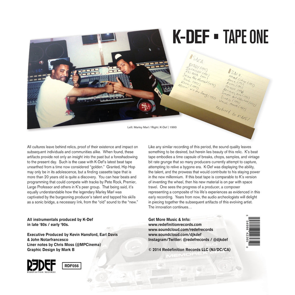 "K-Def - Tape One - (Limited Edition LP, 12"" Vinyl)"
