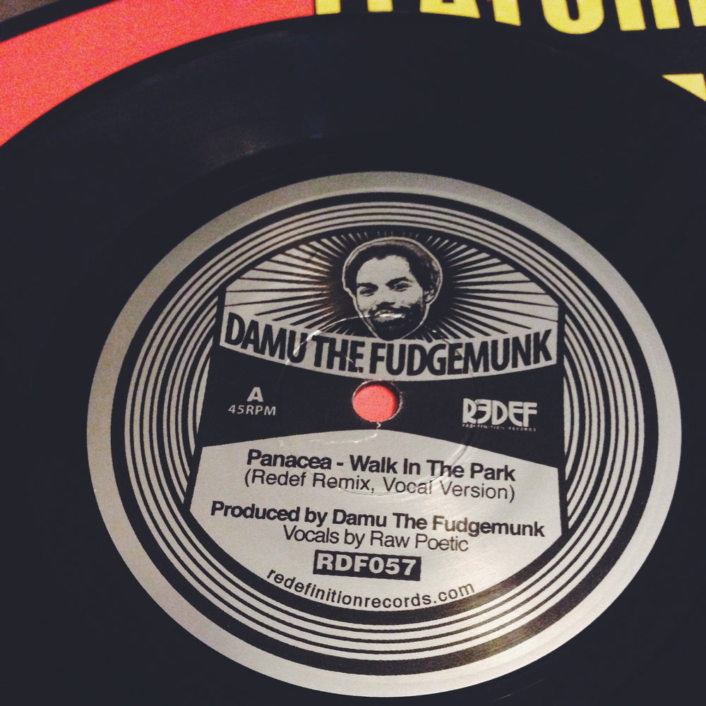 "Damu The Fudgemunk & Raw Poetic - Walk In The Park REMIX (45), (7"")"