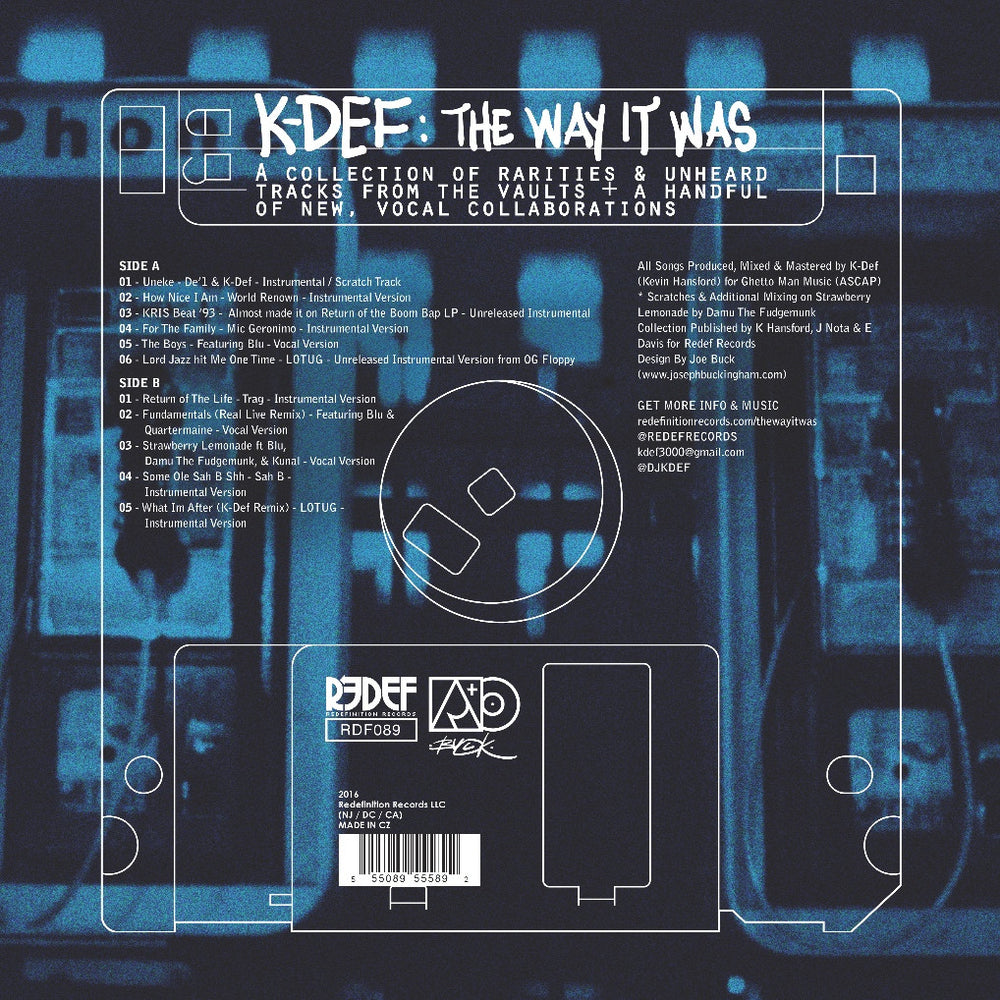 "K-Def - The Way It Was (Blue Color LP - 12"" Vinyl)"