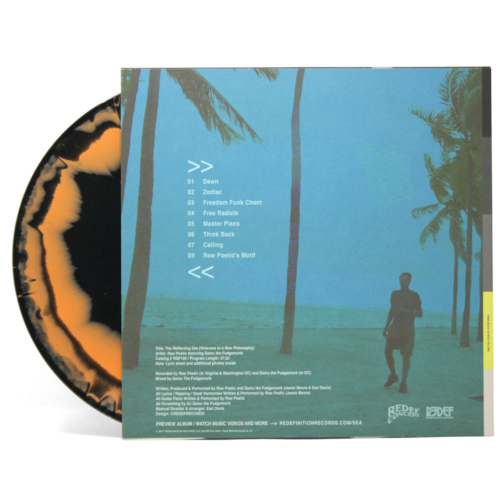 Damu The Fudgemunk & Raw Poetic - The Reflecting Sea (Welcome to a New Philosophy) (LP - Orange/Black Vinyl)