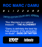 "Roc Marciano & Damu The Fudgemunk - Blizzard (7"" - Blue Vinyl)"