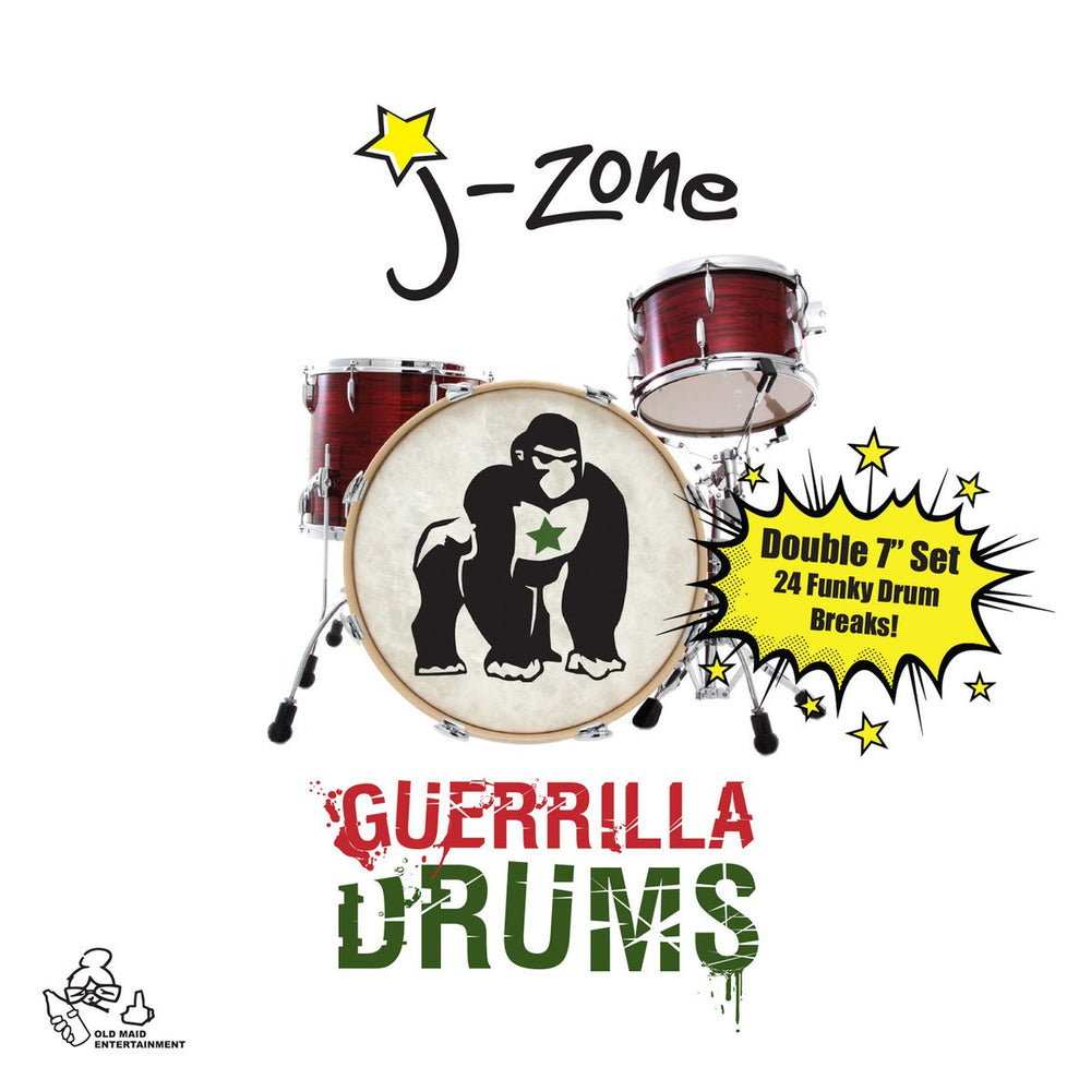 "J-Zone - Guerrilla Drums (2x7"")"