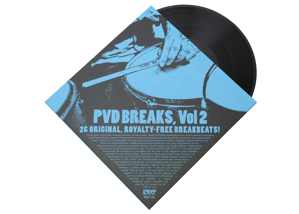 "PVD (Pat Van Dyke) - PVD Breaks Vol 2: Royalty Free Drums (12"" Vinyl LP)"