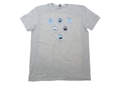 "Vignettes ""V"" Windows (Premium T-Shirt - Storm Grey)"