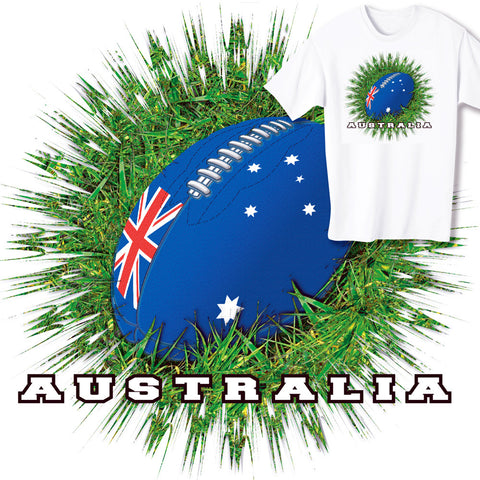 Australia Rugby Ball & Grass T-shirt