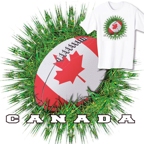 Canada Rugby Ball & Grass T-shirt