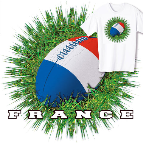 France Rugby Ball & Grass T-shirt
