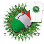 Italy Rugby Ball & Grass T-shirt