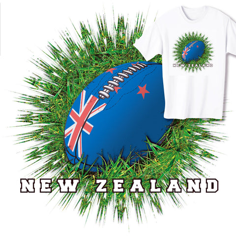 New Zealand Rugby Ball & Grass T-shirt