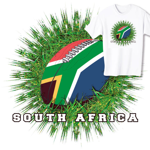 South Africa Rugby Ball & Grass T-shirt