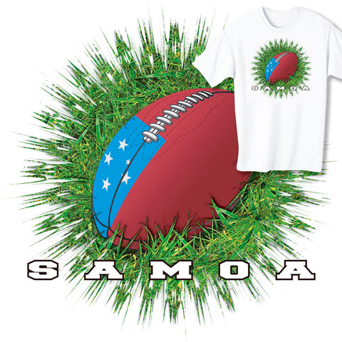 Samoa Rugby Ball & Grass T-shirt