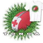 Tonga Rugby Ball & Grass T-shirt