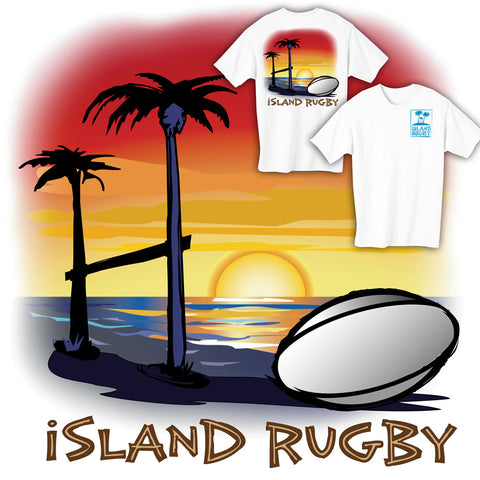 Island Rugby Sunset T-shirt