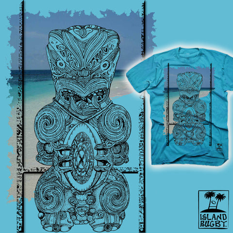 Tribal War God Rugby T-shirt