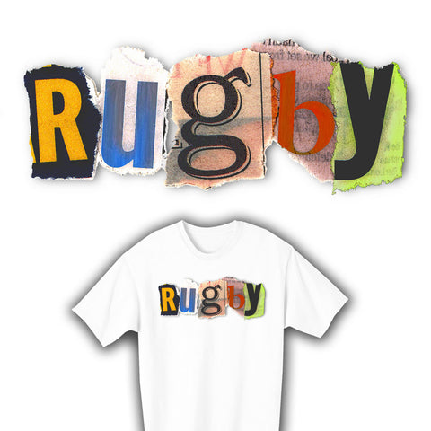 Rugby Ransom Note T-shirt