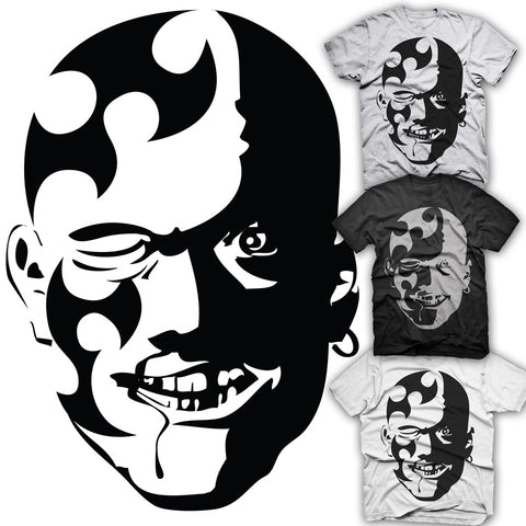 Tribal Rugby Face T-shirt