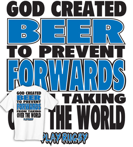 God Invented Beer & Rugby T-shirt