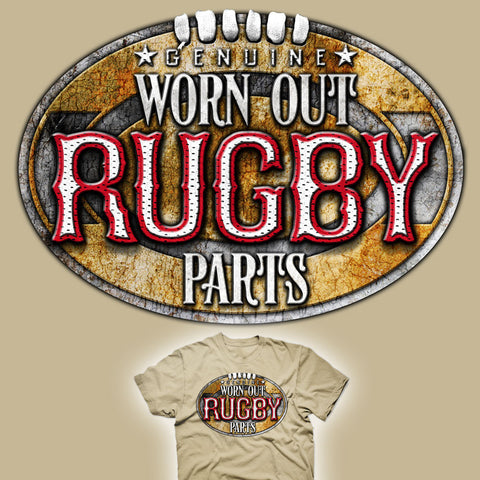 Genuine Worn Out Rugby Parts T-shirt