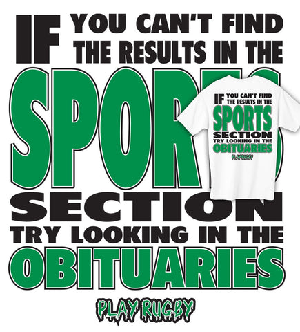 Sports & Obituaries Rugby T-shirt