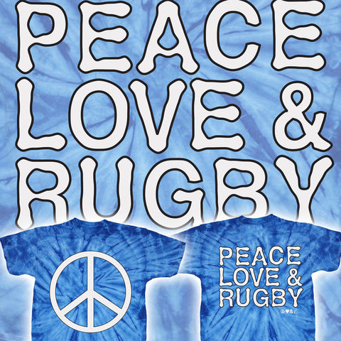 Peace Love & Rugby Tye-Dye T-shirt