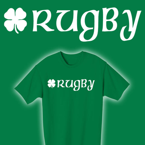 Irish Rugby & Shamrock T-shirt