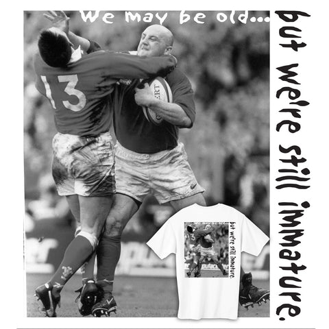 We may be old.... Rugby T-shirt
