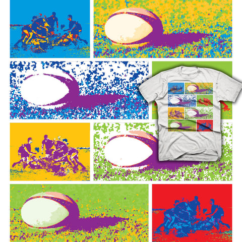 Colorful Special Effects Rugby T-shirt