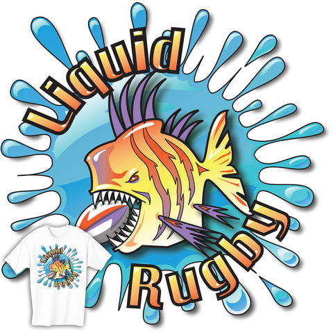 Liquid Rugby Piranha T-shirt