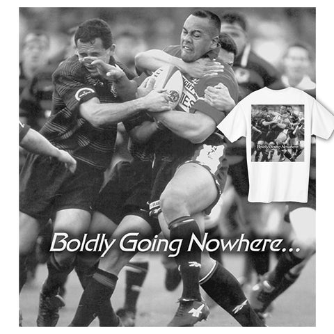 Boldly Going Nowhere Rugby T-shirt