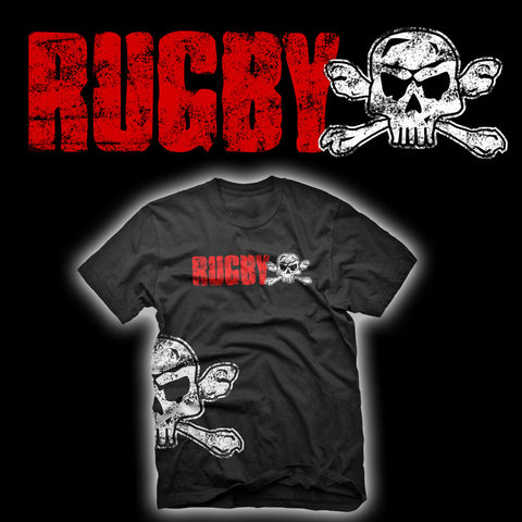 RUGBY Skull & Crossbones Short Sleeved T-shirt