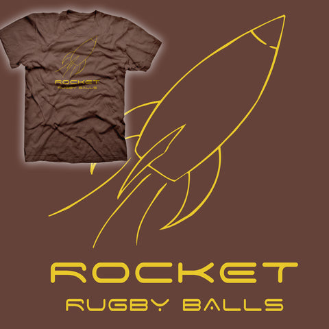 Rocket Rugby Balls - Retro Rugby T-shirt