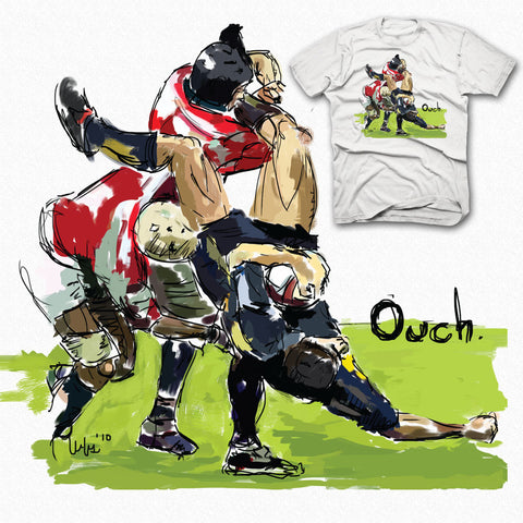 Ouch Big Tackle Rugby T-shirt