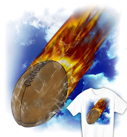 Flaming Rugby Ball Youth Rugby T-shirt