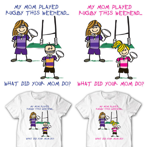 My Mom Played Rugby This Weekend Youth Rugby T-shirt