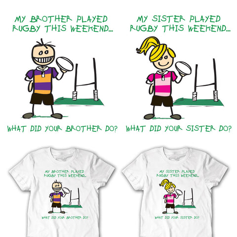 My Brother / Sister Played Rugby This Weekend Youth Rugby T-shirt