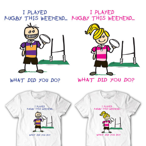 I Played Rugby This Weekend Youth Rugby T-shirt