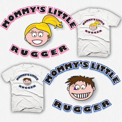 Mommy's Little Rugger Rugby T-shirt